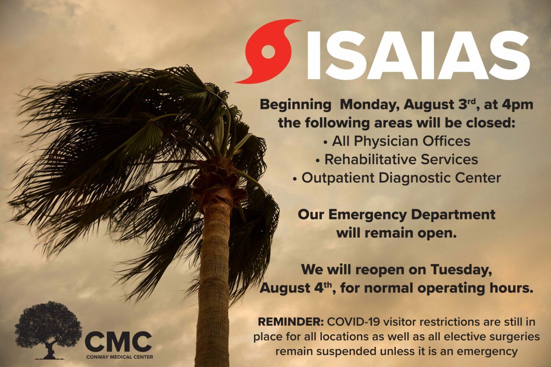 Isaias Closing Graphic_080320
