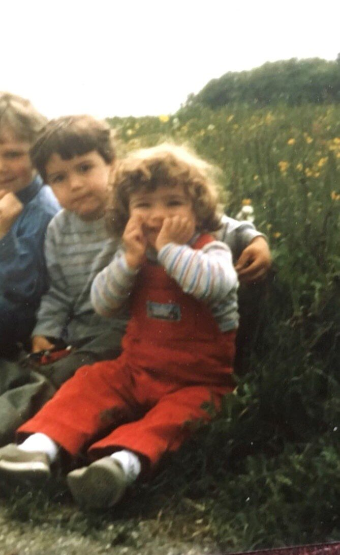 Dr. Najla Itani as a child.